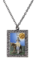 Sun Tarot Card Frame Necklace
