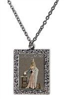 High Priestess Tarot Card Frame Necklace