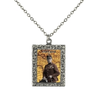 Emperor Tarot Card Frame Necklace