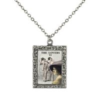 Lovers Tarot Card Frame Necklace