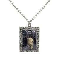 Justice Tarot Card Frame Necklace