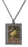 Beware the Grim Peeper Frame Necklace