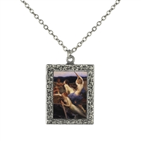 Vintage Photo Pendant Necklace - The Three Sirens