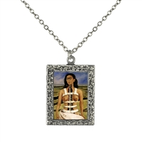 Frida Kahlo Broken Column Frame Necklace