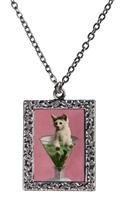 Vintage Photo Pendant Necklace - Kitten-Tini