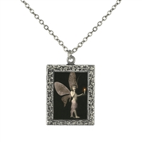 Vintage Photo Pendant Necklace - Fairy with Candle