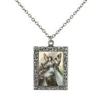 Vintage Photo Pendant Necklace - Fairy Queen