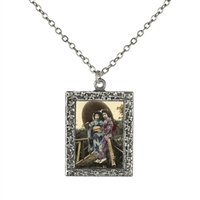 Vintage Photo Pendant Necklace - Geishas on a Bridge