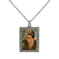 Frida Kahlo Self-Portrait Frame Necklace