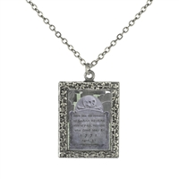 Gravestone of Sarah Revere  Frame Necklace