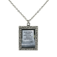 Gravestone of H. P. Lovecraft Pendant Necklace