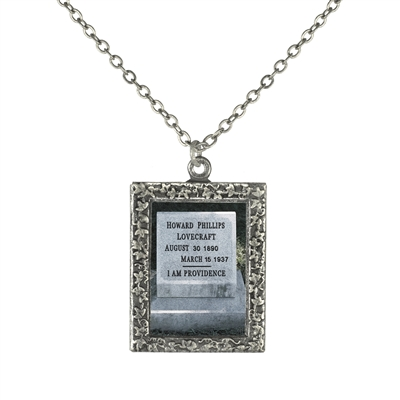 Gravestone of H. P. Lovecraft  Frame Necklace
