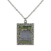 Bullwinkle's Tombstone Frame Necklace