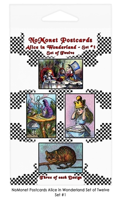 Alice in Wonderland Postcard Set #1