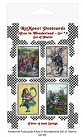 Alice in Wonderland Postcard Set #2