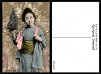 Geisha with Grenades Postcard Set