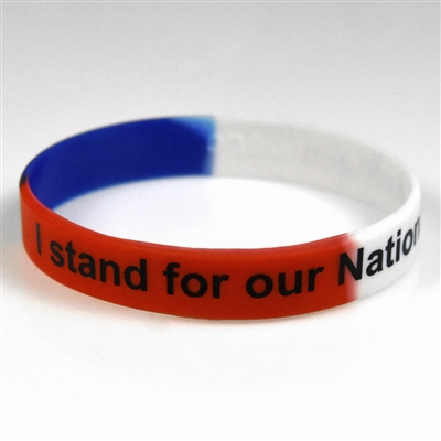I stand for our National Anthem Silicone Bracelet