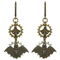Steam Bat Steampunk Earrings