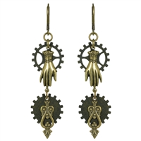 Talk to the Hand Steampunk Earrings