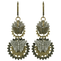 Butterfly Tapestry Steampunk Earrings