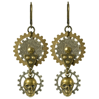 Gearhead Steampunk Earrings