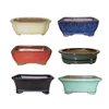 "BONSAI POT ASSORTMENT 8"" MULTICOLORS"