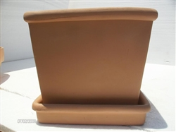 Bordato Square Clay Saucer
