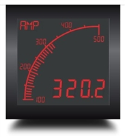 Trumeter APM-AMP-ANO 72 x 72 Ammeter Negative LCD with relay output.