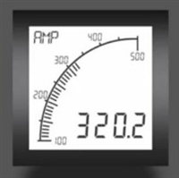 Trumeter APM-AMP-APN 72 x 72 Ammeter Positive LCD with no relay output.