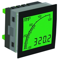 Trumeter APM-SHUNT-APO 72 x 72 Shunt Meter Positive LCD with relay output.