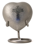 CELTIC CROSS CREMATION URN HEART KEEPSAKE