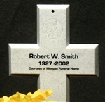 HIGH-IMPACT LASER LABELS-FOR CROSS GRAVE MARKERS