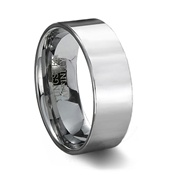 Polished Tungsten Carbide Pipe Cut Wedding Band