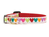 Unique Cat Collar Pop Hearts SaltyPaws.com