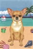Chihuahua on the Beach Flag SaltyPaws.com