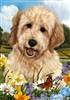 Goldendoodle Small Decorative Garden Flag