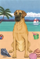 Great Dane on the Beach Flag SaltyPaws.com