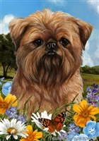 Brussels Griffon Small Decorative Garden Flag