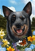 Blue Australian Cattle Dog Small Decorative Garden Flag