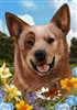 Red Australian Cattle Dog Small Decorative Garden Flag