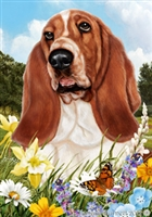 Basset Hound Small Decorative Garden Flag