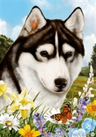 Siberian Husky Small Decorative Garden Flag