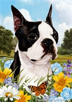 Boston Terrier Small Decorative Garden Flag