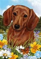 Dachshund Small Decorative Garden Flag