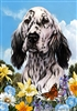 English Setter Small Decorative Garden Flag