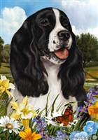 Springer Spaniel Small Decorative Garden Flag