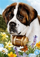 Saint Bernard Small Decorative Garden Flag