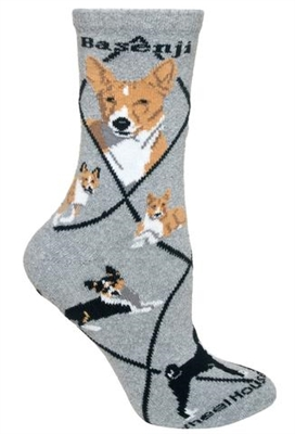 Basenji Novelty Socks SaltyPaws.com