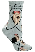 Yorkshire Terrier Novelty Socks SaltyPaws.com