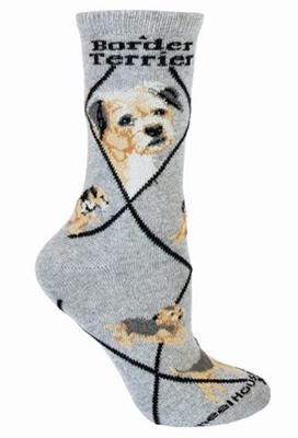 Border Terrier Novelty Socks SaltyPaws.com
